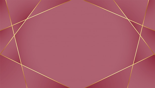 Fondo real de lujo con líneas doradas de baja poli