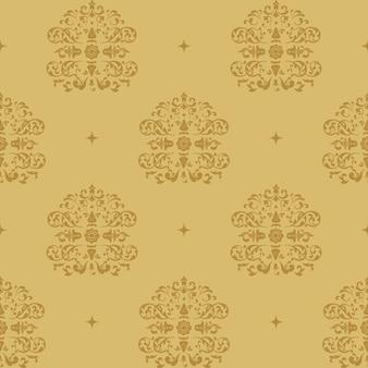 Fondo real victoriano. patrón de estilo barroco con elementos vintage.