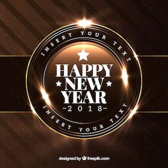 Fondo realista de año nuevo 2018 en marrón