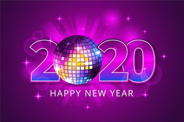 Fondo realista de año nuevo 2020