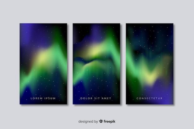 Fondo realista aurora boreal