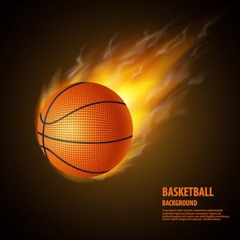 Fondo realista de baloncesto.