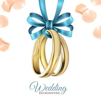Fondo realista de la boda