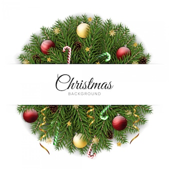 Fondo realista corona de navidad