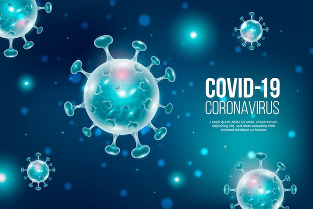 Fondo realista de coronavirus