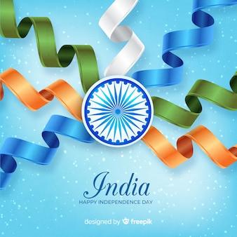 Fondo realista del día de la independencia de india