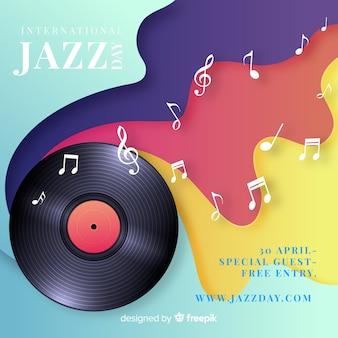 Fondo realista del día internacional del jazz