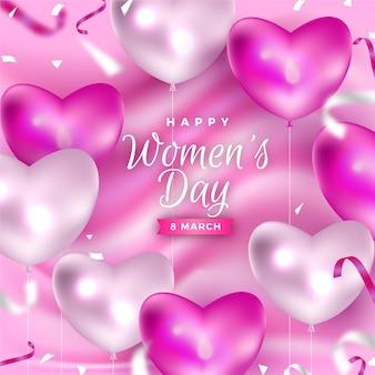 Fondo realista del día de la mujer
