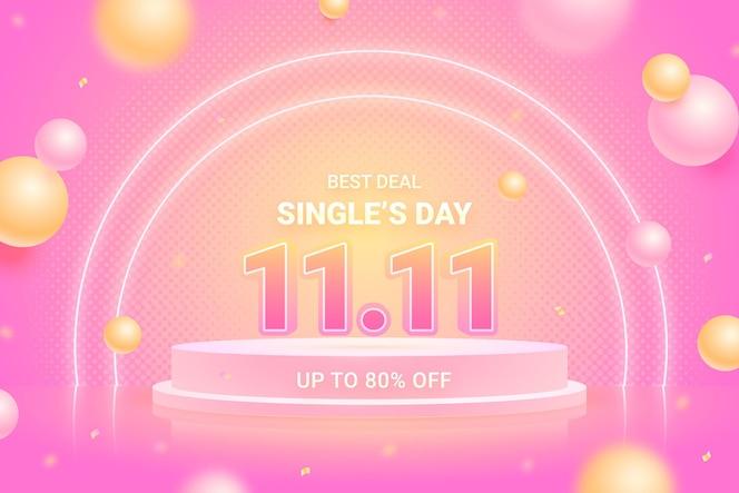 Fondo realista del día del soltero