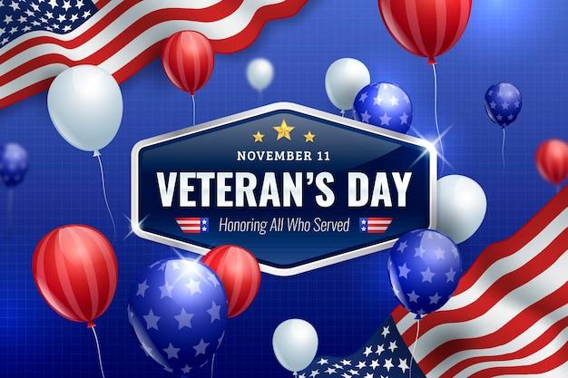 Fondo realista del día de los veteranos