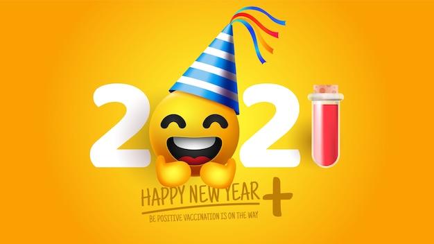 Fondo realista divertido año nuevo 2020