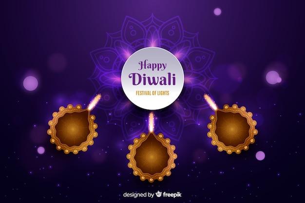 Fondo realista de diwali