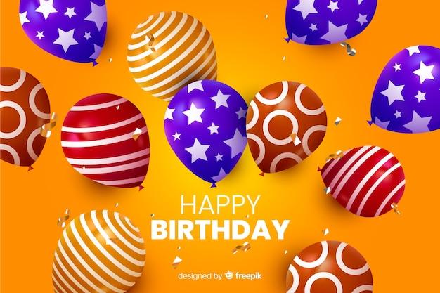 Fondo realista feliz cumpleaños