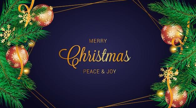 Fondo realista feliz navidad