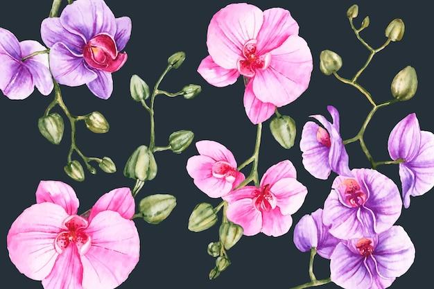 Fondo realista floral pintado a mano