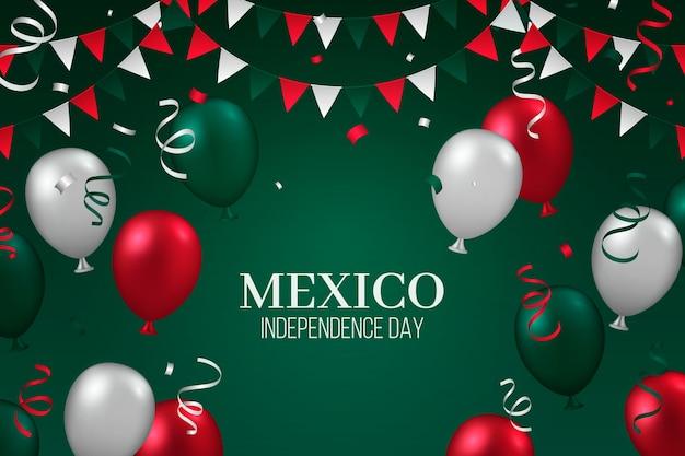 Fondo realista de globo del día de la independencia de méxico