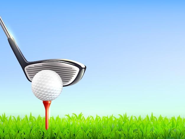 Fondo realista de golf
