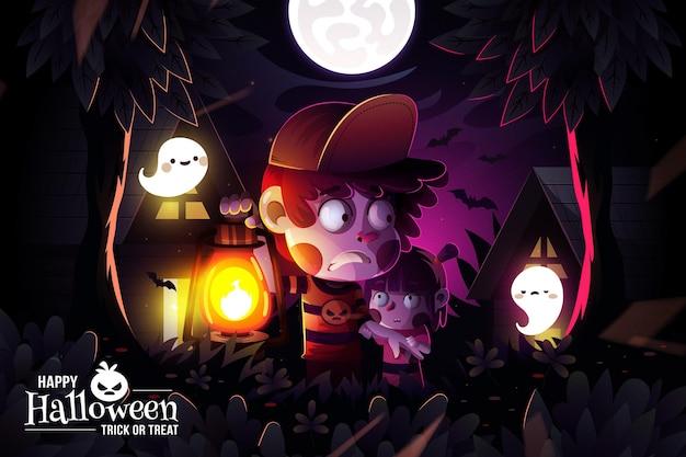 Fondo realista de halloween