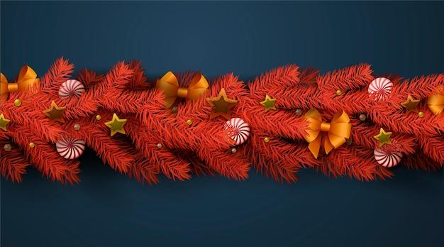 Fondo realista de oropel de navidad