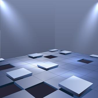 Fondo realista de piso de cubos