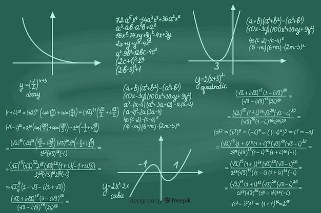 Fondo realista pizarra matemáticas