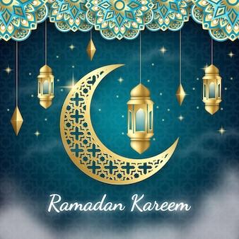 Fondo realista de ramadan kareem