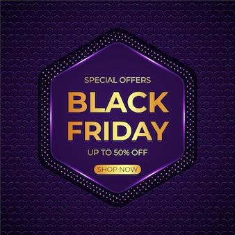 Fondo realista de rebajas de viernes negro 3d