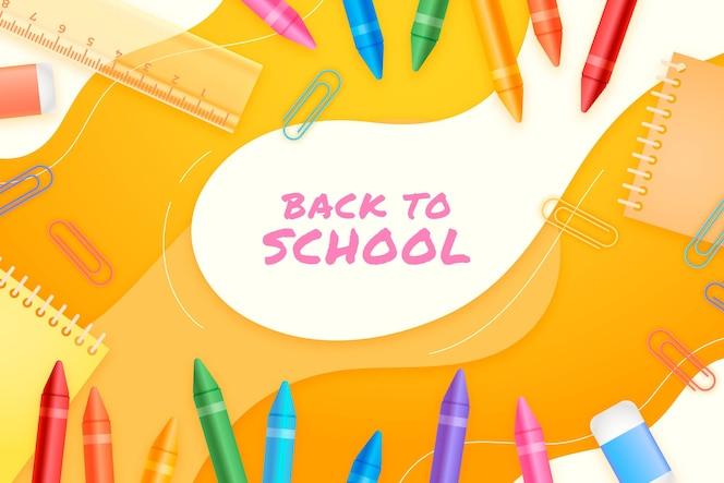 Fondo realista de regreso a la escuela