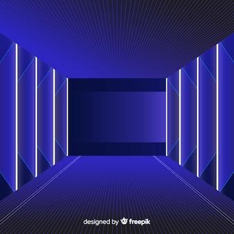 Fondo realista tecnológico de tunel de luz