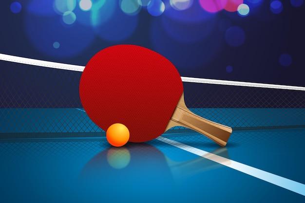 Fondo realista de tenis de mesa