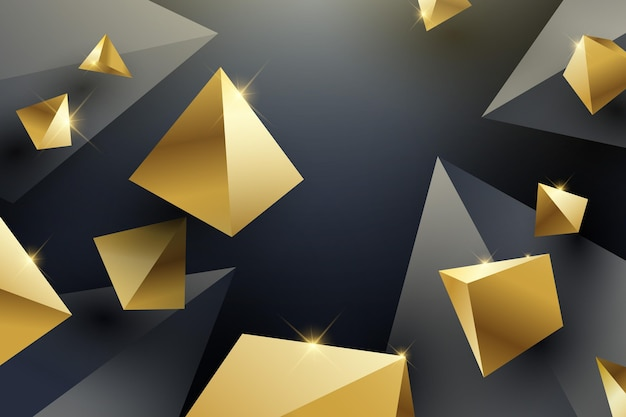 Fondo realista con triángulos