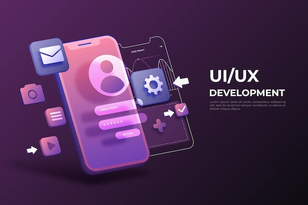 Fondo realista de ui / ux