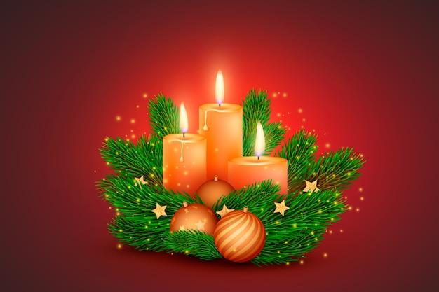 Fondo realista vela de navidad