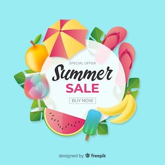 Fondo realista de verano