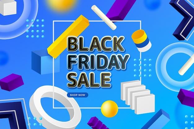 Fondo realista de viernes negro 3d