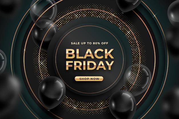 Fondo realista de viernes negro