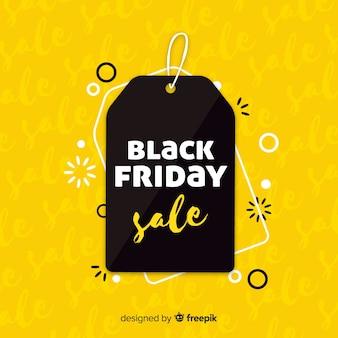Fondo de rebajas de black friday en negro y amarillo