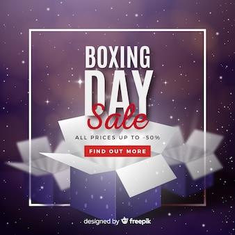 Fondo de rebajas de boxing day realista