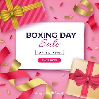 Fondo de rebajas boxing day realista