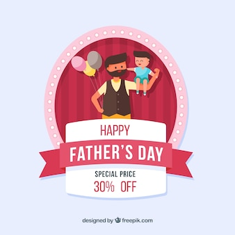 Fondo de rebajas para el día del padre