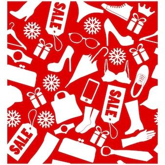 Fondo para las rebajas de navidad