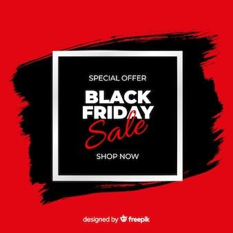 Fondo de rebajas negro y rojo de black friday