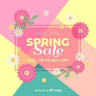 Fondo de rebajas de primavera colorido