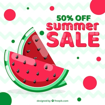 Fondo de rebajas de verano con melón