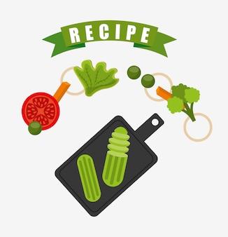Fondo de receta de cocina
