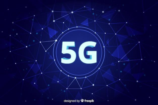 Fondo de red celular de quinta generación