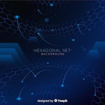 Fondo de red futurista hexagonal