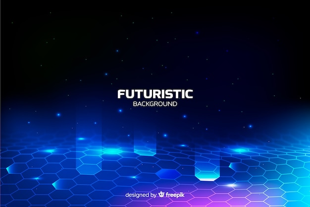 Fondo red hexagonal futurista