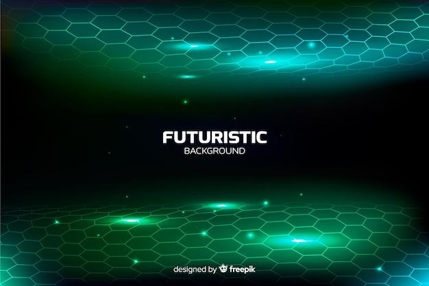 Fondo red hexagonal futurista