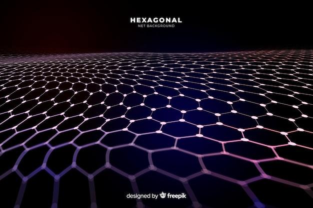 Fondo de red hexagonal futurista